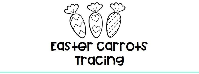 Easter carrot tracing