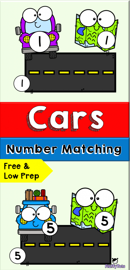 Cars Number Matching Printables