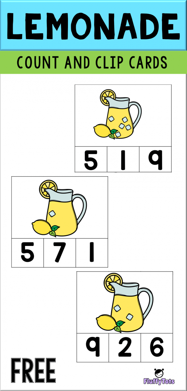 lemonade count and clip cards